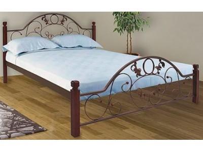 Кровать «Франческа на деревянных ножках» (Металл-дизайн)