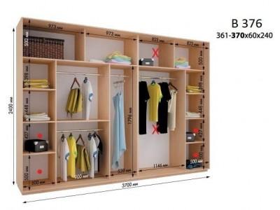 Четырехдверный шкаф купе ВН-376