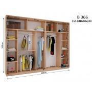Четырехдверный шкаф купе ВН-366