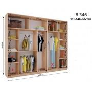 Четырехдверный шкаф купе ВН-346