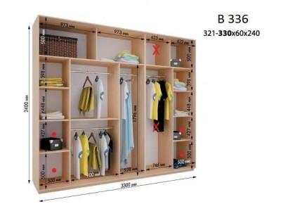 Четырехдверный шкаф купе ВН-336