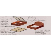 Кровать без каркаса 1400/545 б/м