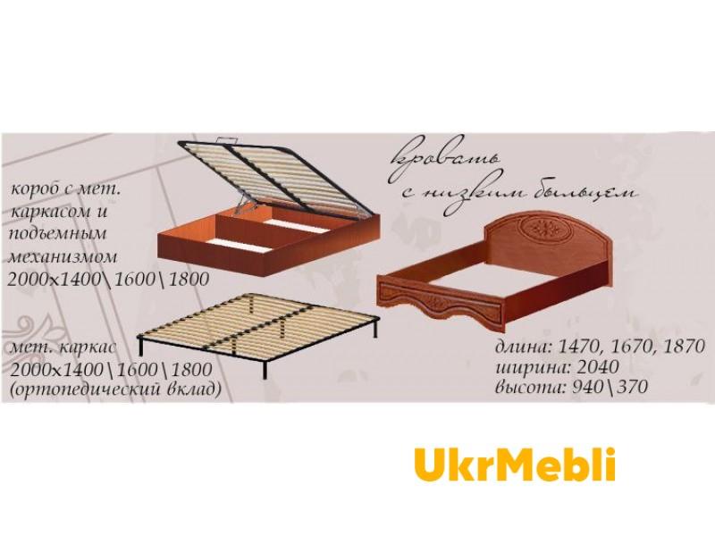 Кровать без каркаса 1600/370 б/м