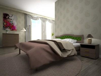 Кровать деревянная « ЮЛІЯ 2» (ТИС)