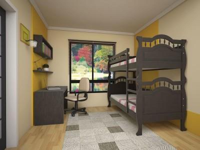 Двухъярусная кровать «Трансформер 10» (Тис)