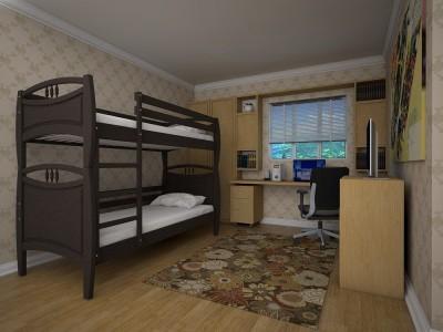 Двухъярусная кровать «Трансформер 12» (Тис)