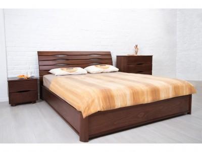 Кровать двуспальная «Марита New» из массива Бука  (Олимп)