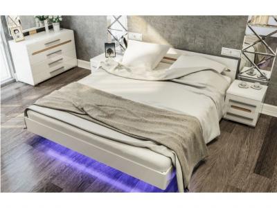 Кровать 1,6 Бьянко (с неоновой подсветкой) Світ Меблів