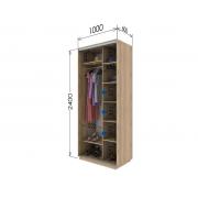Шкаф купе «Гарант» двухдверный 100х240х60