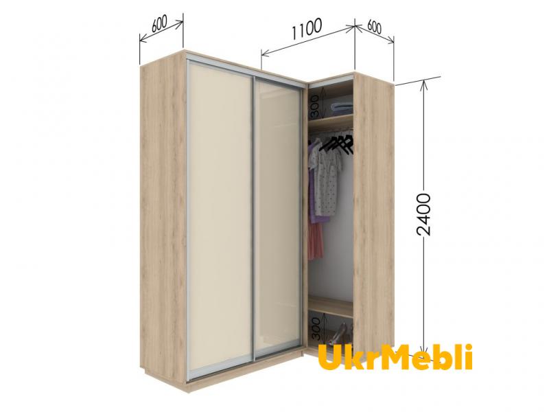 Приставной шкаф купе «Гарант» 110/60х240х60