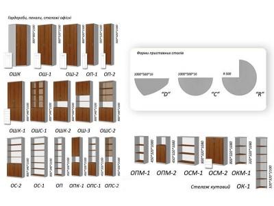 Модели офисных пеналов и шкафов