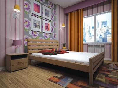 Кровать деревянная «Домино 2» (ТИС)