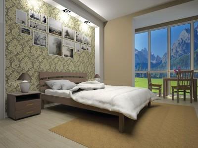 Кровать деревянная «Домино 3» (ТИС)
