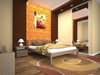 Кровать деревянная «ОМЕГА 1» (ТИС)