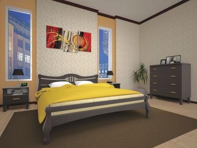 Кровать деревянная «Корона 1» (ТИС)