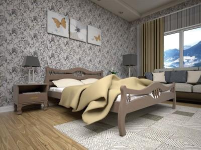 Кровать деревянная «Корона 2» (ТИС)
