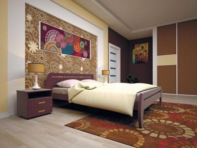 Кровать деревянная «Новая 1» (ТИС)