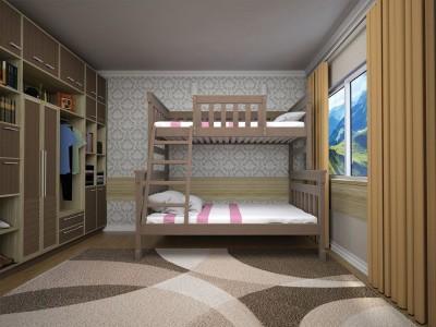 Кровать детская  «Комби 2» (ТИС)