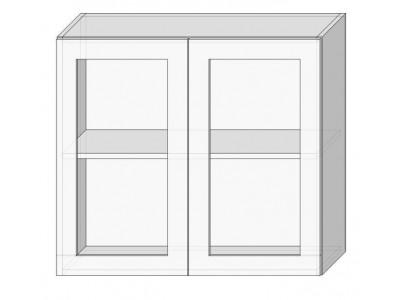 Шкаф-витрина 80 с сушкой